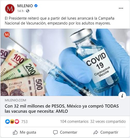 32 vacunas