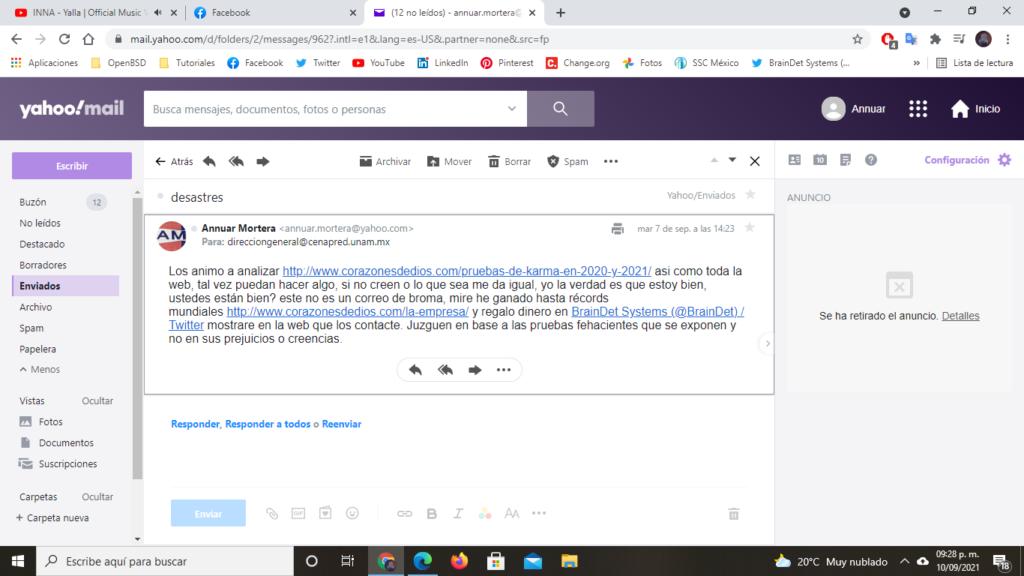Email Cenapred