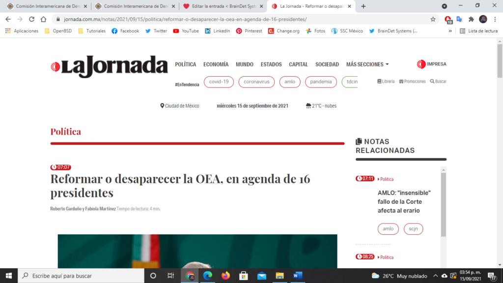 desaparecer OEA