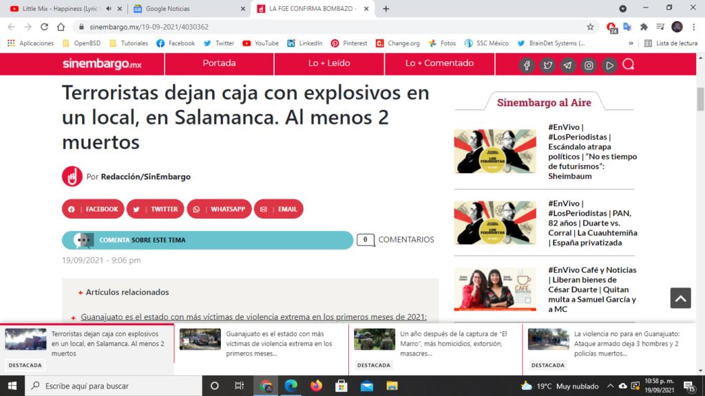 bomba Salamanca