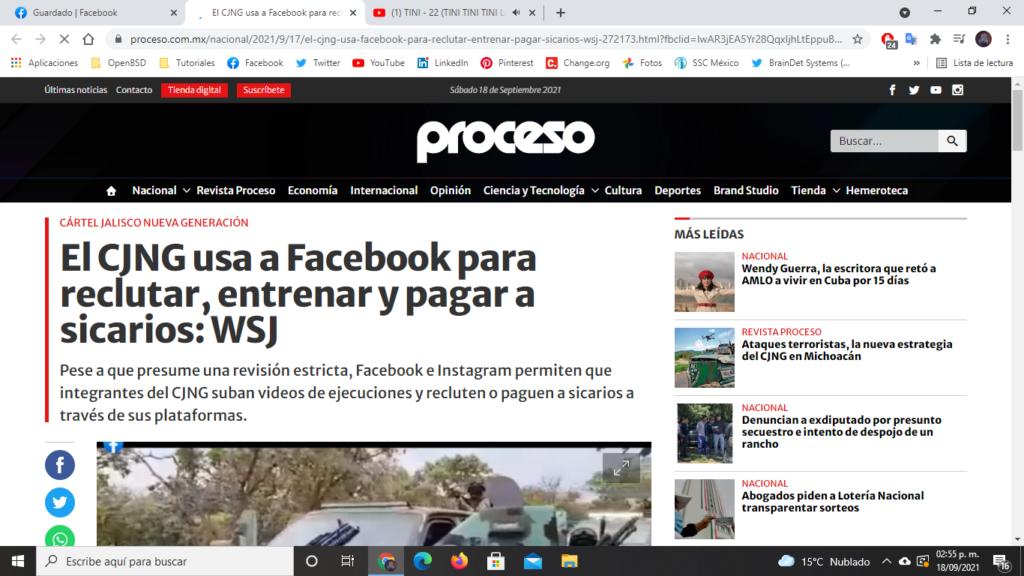 Facebook CJNG